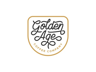 Golden Age Coffee Company branding hand lettering vector coffee design type typography lettering logotype logo design logo
