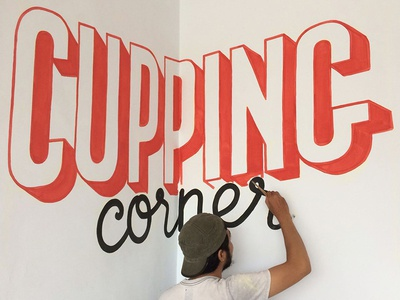 Mural for Red Spatula Coffee & Roastery
