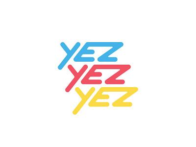 Yez Yez Yez Logo Design monoline colorful street art logo design flat hostel logo yez yez yez