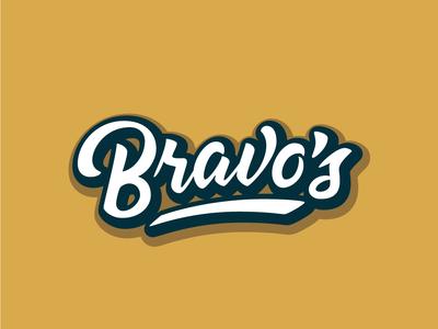 Bravo's Vector logo design hand type handlettering script brush type typography vector logotype lettering