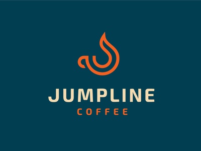 Jumpline Coffee Logo design coffee company coffee brand identity logo design branding logodesign logo