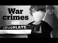 """War crimes and Chocolate Bar"" Social Media Thumbnail"