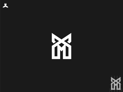 mx logo line art monogram golden ratio grid logo ux vector ui illustration app logo letter mark icon design branding
