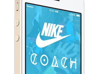 Nike Coach iPhone App ui app iphone ux