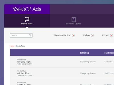 Yahoo! Ads (free PSD) ui ux design photoshop psd userinterface app freebie free psd ios7 screen