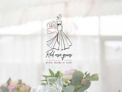Red Rose Gowns Logo branding logo design