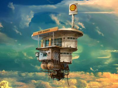 Art Piece for Shell Kenya art branding design