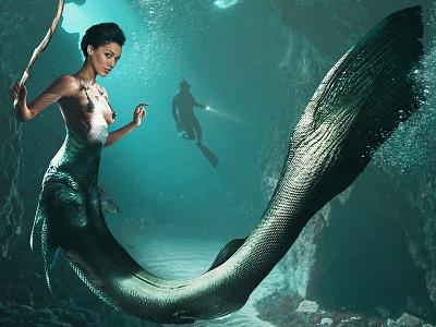 Afro-Mermaid Campaign branding design illustration art