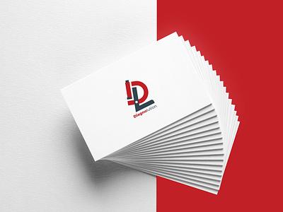 Diagnolution logo mockup graphic design lettermark ui branding logo
