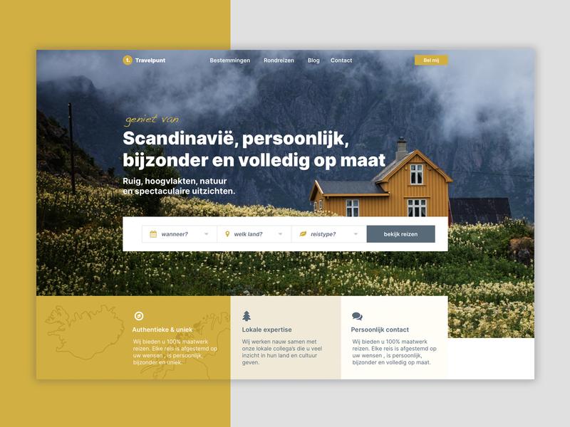 Travel agency ux ui branding homepage design website wordpress