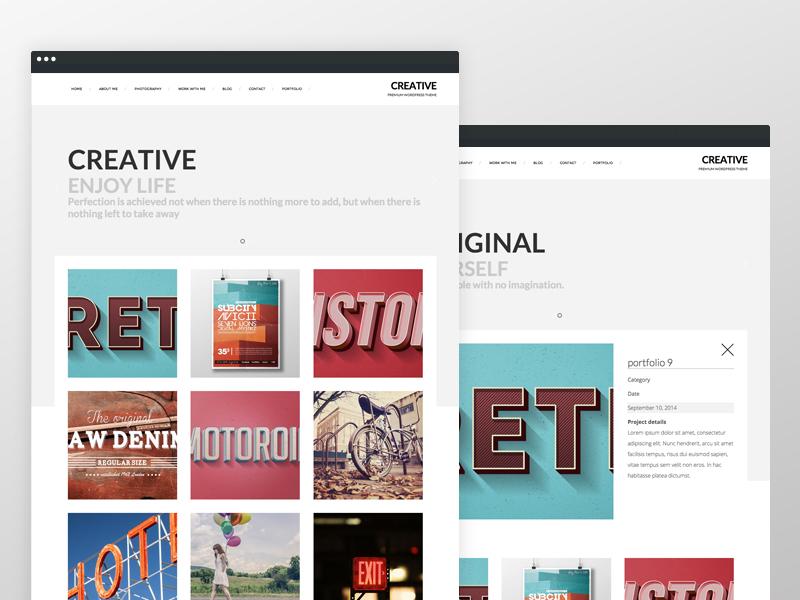 Creative Portfolio Website - Concept by Frank Schrijvers on