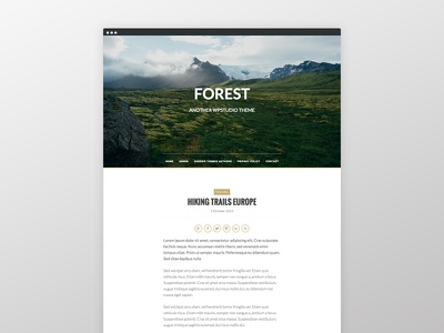 Forest Theme blog responsive genesis framework clean wordpress website