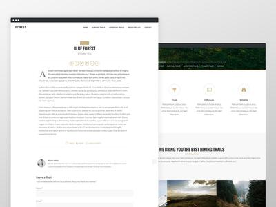 Forest Theme website wordpress blog responsive genesis framework clean