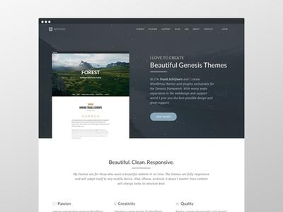 Wpstudio typography theme wordpress ux ui web design genesis framework
