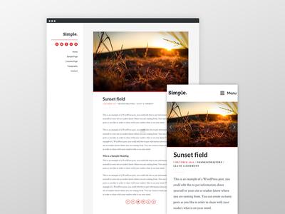 Simple Theme web design ux ui typography theme genesis framework wordpress