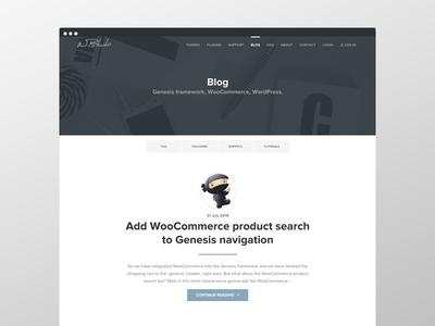 Wpstudio Blog page blog web design ux ui typography theme genesis framework wordpress