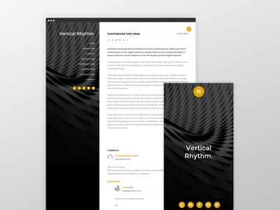Vertical Rhythm Theme rhythm vertical design web ux ui typography theme framework genesis wordpress