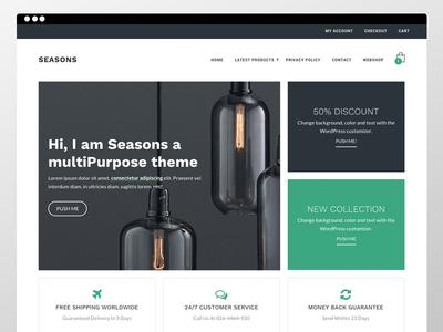 Seasons Ecommerce Theme woocommerce webshop ecommerce homepage clean ux ui theme genesis