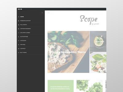 Scope Navigation wordpress navigation slide in masonry homepage genesis genesis framework food blog