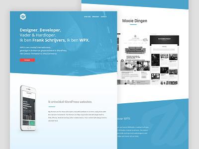 Homepage WPX design clean genesiswp web ui desktop homepage