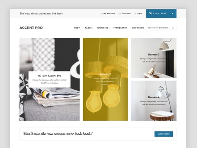 Accent Pro - Ecommerce Theme woocommerce webshop ux u theme homepage genesiswp genesis ecommerce clean