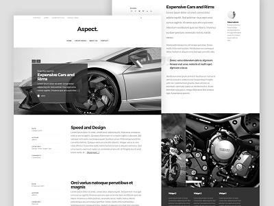 Aspect Pro - Homepage magazine blog website web design content wordpress theme genesiswp genesis