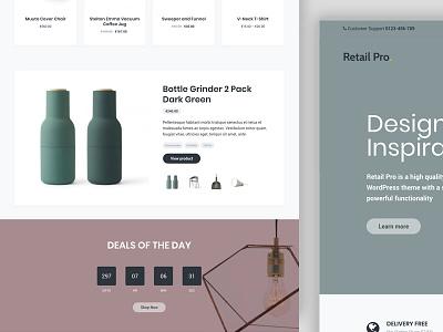 Retail Pro wordpress woocommerce webshop ux ui theme homepage genesis ecommerce clean
