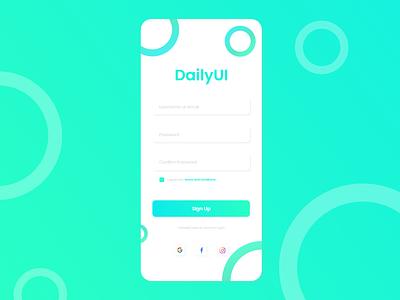UI Design mobile xd sign up graphic design branding ui