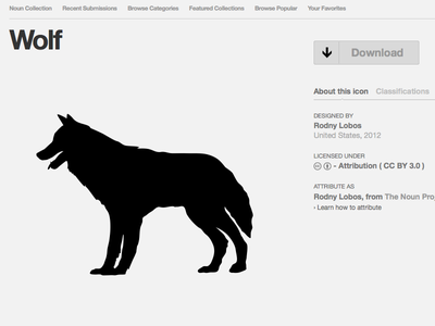 Wolf Icon icon a day icon wolf animal playoffs the noun project