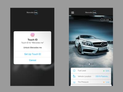 SISU MercedesMe ios app 2 ux ui sign in sign up iphone mercedes-benz app ios