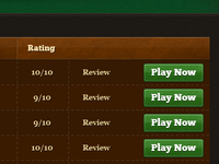 Casino app GUI