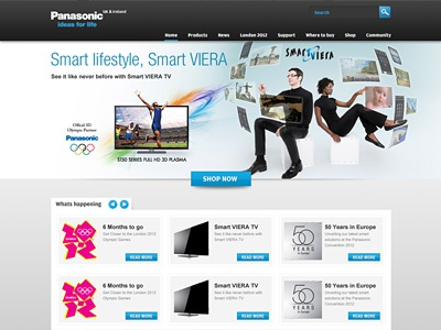 Panasonic.co.uk site redesign panasonic mockup website