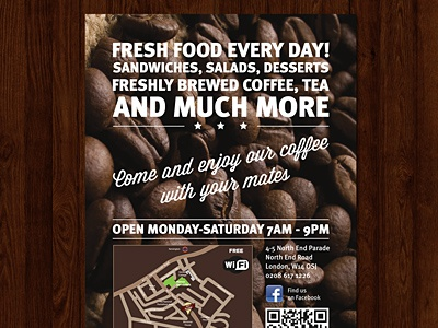 Cafe flyer preview cafe flyer print design graphic design preview