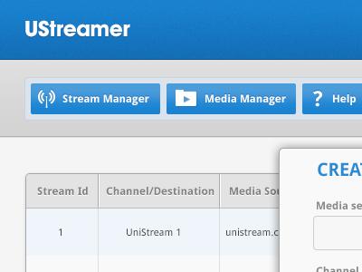 Ustreamer UI preview gui ui app interface