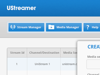 Ustreamer UI preview