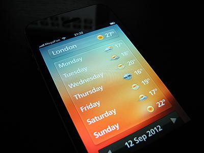 Weather app UI idea weather iphone app gui ui interface