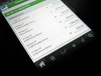 Mobile banking app nav