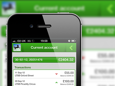 Lloyds TSB banking app mobile iphone app gui ui interface banking