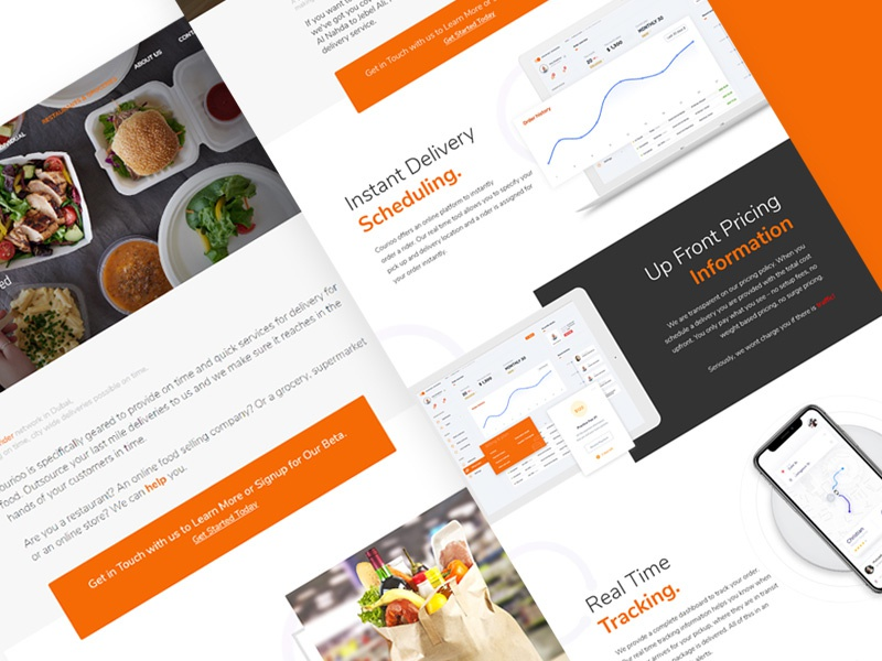 Food delivery service website by Muhammad Atif on Dribbble