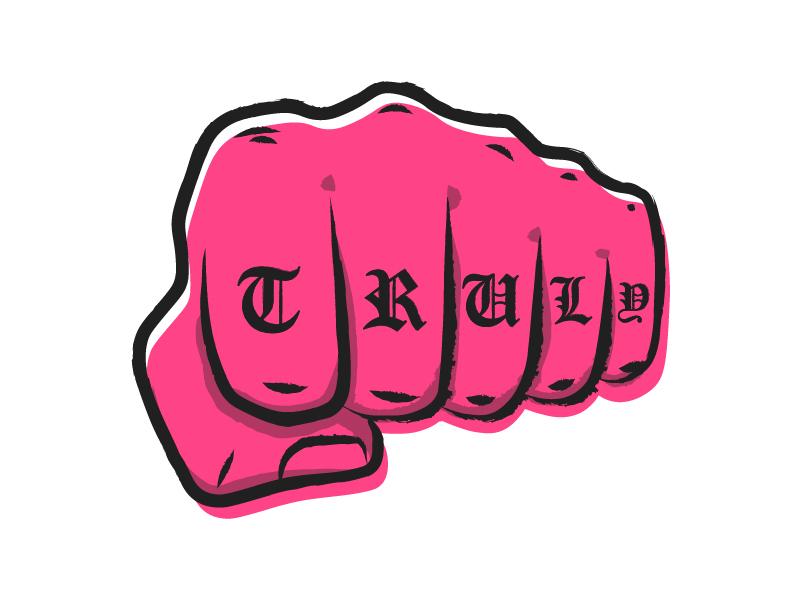 Truly Knuckle Tattoo knuckles tough street tattoo fist