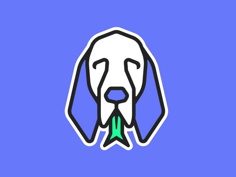 Snakehound animal sticker bloodhound tongue snake dog hound