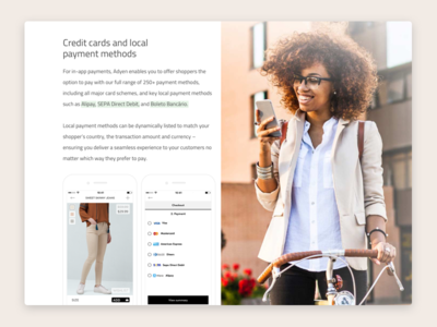 Credit cards and local payments