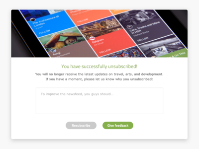 Daily UI: Confirmation