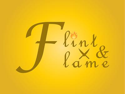 Flame logo for restaurant typography icon design logo graphic design dailylogochallenge
