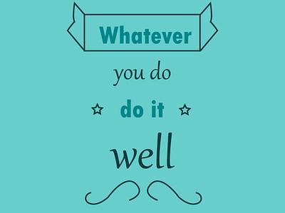 Simple quote quote typography design graphic design