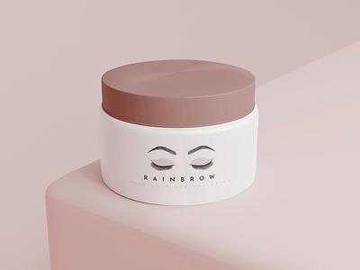 Rainbrows feminine cosmetics beauty cosmetic illustration vector design branding minimalist logo line logo line art apollostudio