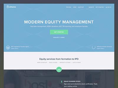 eShares homepage navigation guilloche fintech hero homepage
