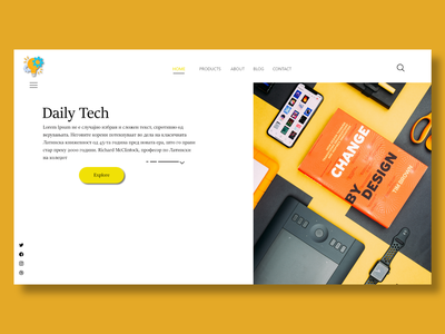 Landing Page UI Design xd creative simple sketch inspiration effective landing page page layout modern tech website dailyui tech concept website ui design ui landing page graphic design design