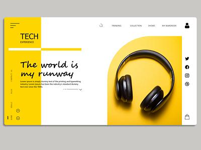 Modern Landing Page UI design xd technology website tech latest new best 2021 pro modern logo vector branding illustration creative landing page ui graphic design design dailyui