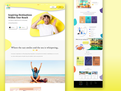 Holiday Hotel Landing Page UI Design design branding logo themes templates xd simple pro new fun holiday hotel landing page hotel vector landing page illustration graphic design ui creative dailyui